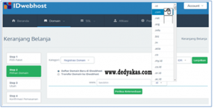 Dedy Akas 3 Panduan Cara Daftar Domain Baru di IDwebhost