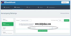 Dedy Akas 4 Panduan Cara Daftar Domain Baru di IDwebhost