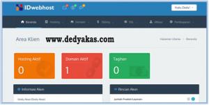 Dedy Akas 4 Panduan Cara Daftar Hosting Baru di IDwebhost