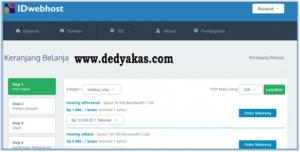 Dedy Akas 6 Panduan Cara Daftar Hosting Baru di IDwebhost