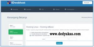 Dedy Akas 8 Panduan Cara Daftar Hosting Baru di IDwebhost