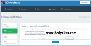 Dedy Akas 9 Panduan Cara Daftar Hosting Baru di IDwebhost