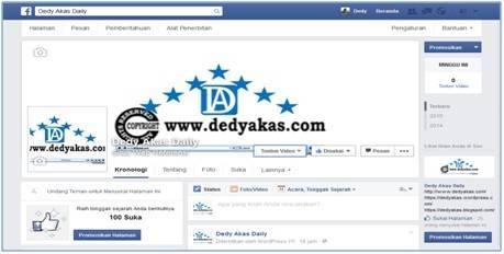 Dedy Akas Website Cara Daftar di Facebook Fans Page