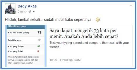 Cara Mengetahui Kecepatan Mengetik - Dedy Akas Website
