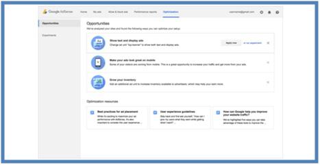Mencari Peluang Dengan Tab Optimization AdSense Baru - Dedy Akas Website