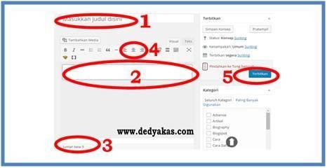 Panduan Belajar WordPress Membuat Postingan Baru | Dedy Akas Website
