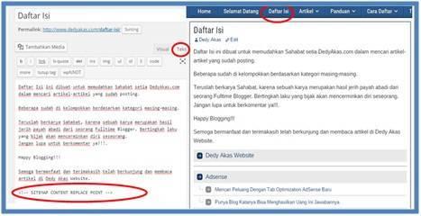 Panduan Belajar WordPress Membuat Halaman Daftar Isi atau Sitemap - Dedy Akas Website