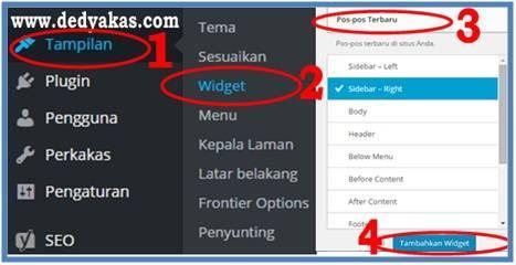 Panduan Belajar WordPress Membuat Widget - Dedy Akas Website