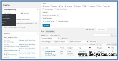 Panduan Belajar WordPress Membuat Tab Semua Pos Menjadi Rapih - Dedy Akas Website