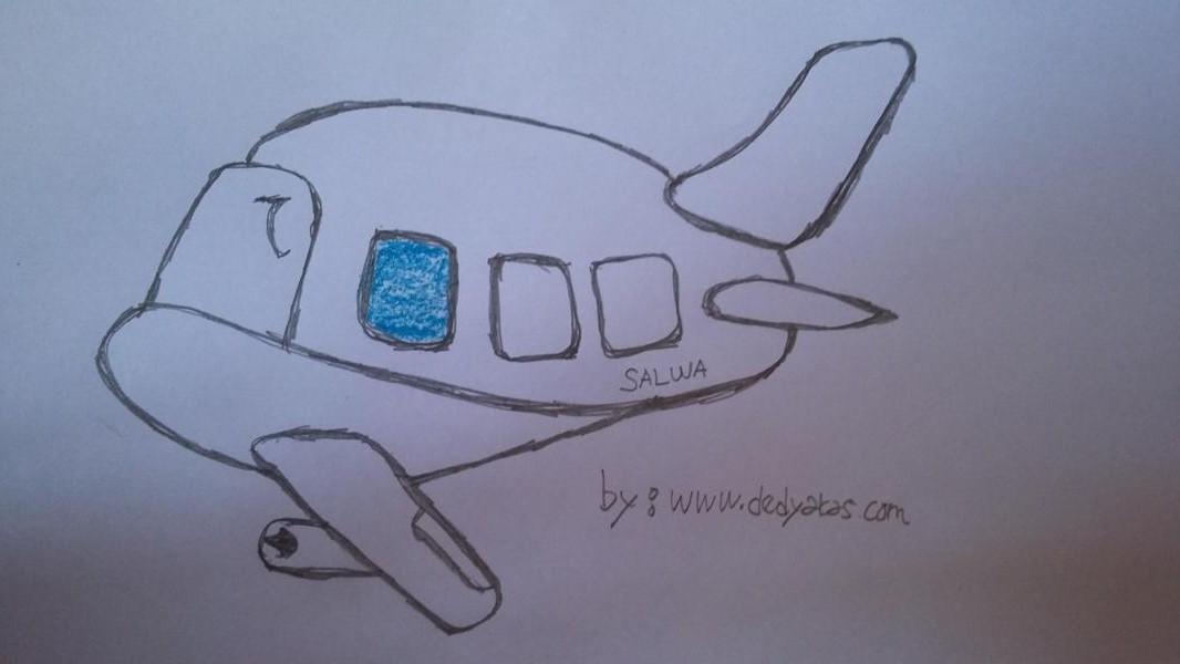 Bercengkrama Dengan Anak Membuat Gambar Pesawat - Dedy Akas Website