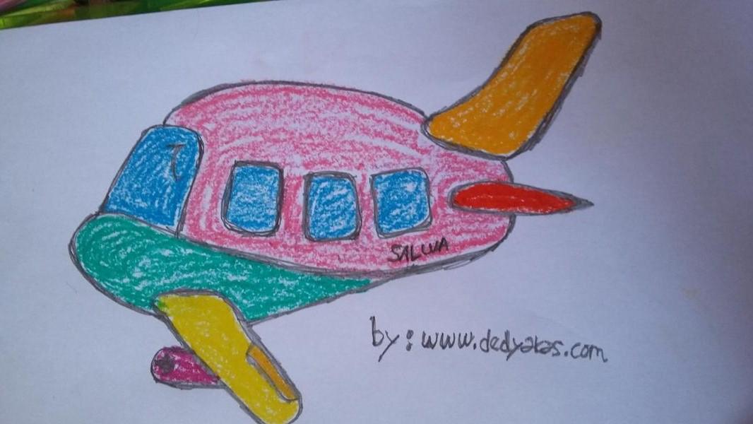 Bercengkrama Dengan Anak Membuat Gambar Pesawat Terbang - Dedy Akas Website