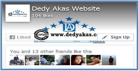 Menambah Banyak Teman Menggunakan Halaman Facebook - Dedy Akas Website