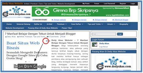 Contoh Blog Yang Berpenghasilan - Dedy Akas Website