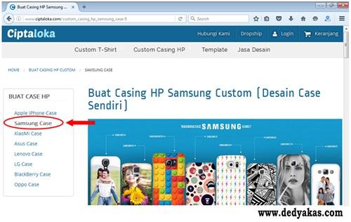 Langkah Kedua Membuat Desain Casing HP Di Ciptaloka - Dedy Akas Website