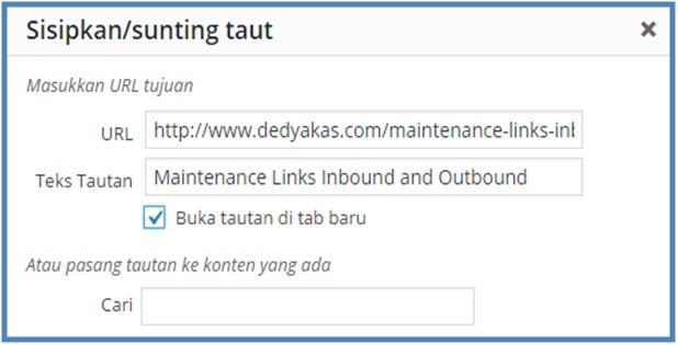 Pengertian Outbound Link - Sunting Tautan - Dedy Akas Website