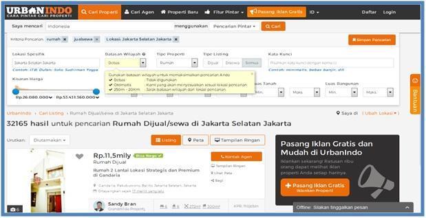Rumah Dijual Di Jakarta Selatan UrbanIndo - Dedy Akas Website