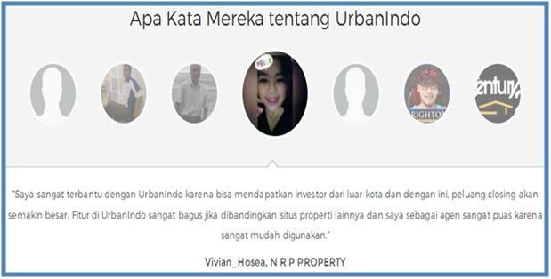 UrbanIndo.com Website Jual Beli Properti Terpintar - Apa Kata Mereka Tentang UrbanIndo
