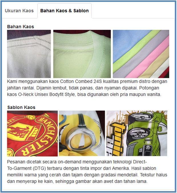 Bahan Kaos SatuBaju.com - Dedy Akas Website
