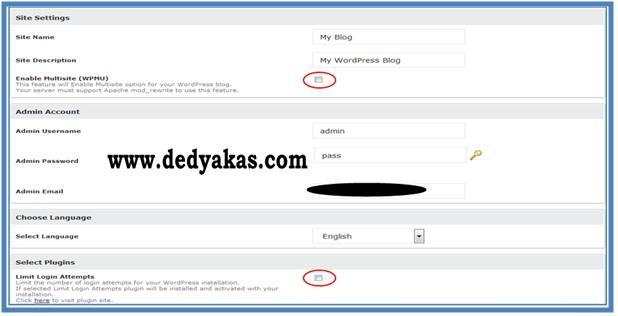 Cara Membuat Blog WordPress.org - Site Descriptions - Dedy Akas Website
