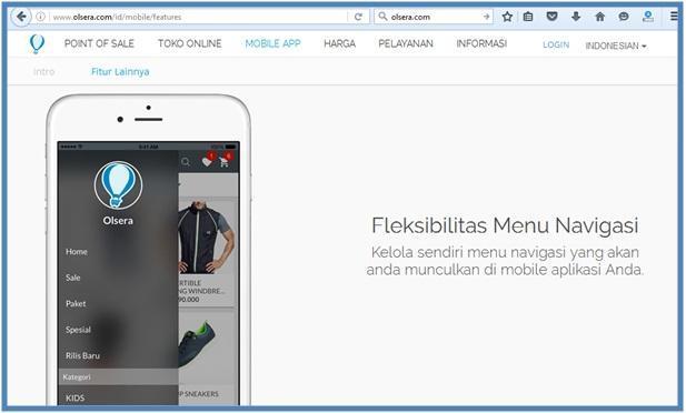 Mobile App untuk UKM - Mobile Feature Menu Navigasi - Dedy Akas Website