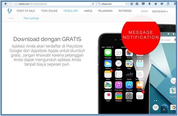 Mobile App untuk UKM - Mobile Feature Message Notification - Dedy Akas Website