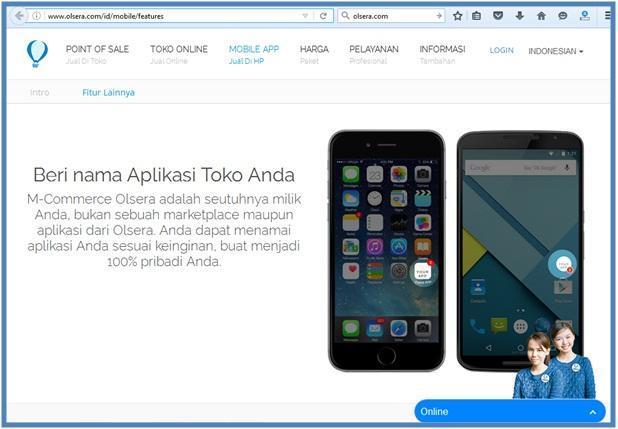 Mobile App untuk UKM - Mobile Feature Nama Toko Anda - Dedy Akas Website