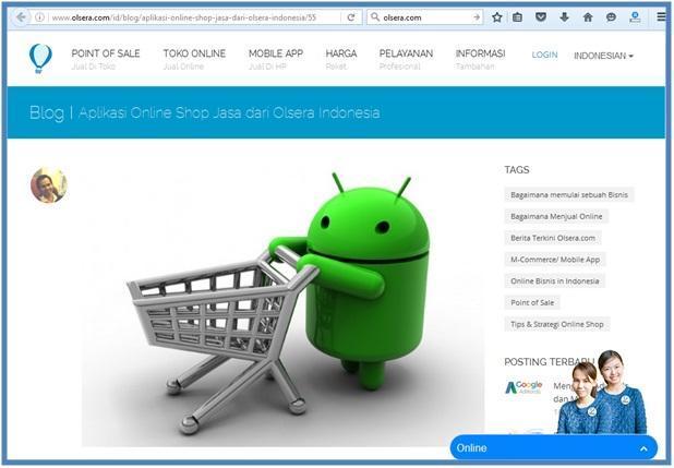 Mobile App untuk UKM - Olsera Blog - Dedy Akas Website