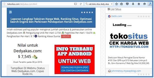 Toko Situs Bisa Cek Kisaran Harga Dedy Akas Website