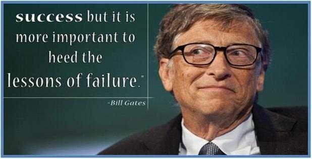 Success but it is more important to heed the lesson of failure, Bill Gates - Dedy Akas Website