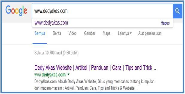 Manfaat Mesin Pencari dan Hasil Pencarian - Dedy Akas Website