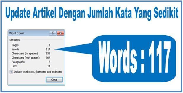 Update Artikel Dengan Jumlah Kata Yang Sedikit - Dedy Akas Website