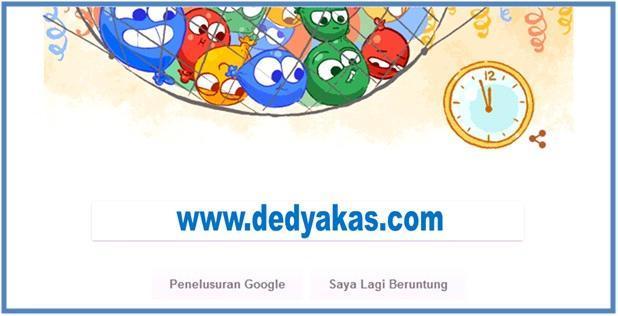 Ucapan Selamat Tahun Baru dari Google