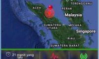 Gempa Bumi di Kabupaten Deli Serdang Sumatera Utara