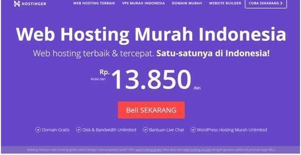 Review Hostinger Co Id Penyedia Web Hosting Murah Indonesia