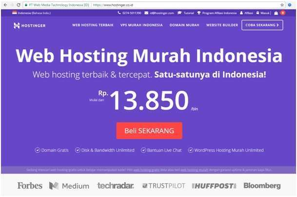 Review Hostinger Co Id Penyedia Web Hosting Murah Indonesia