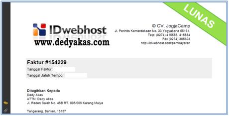 Dedy Akas Free Download Panduan Cara Konfirmasi Pembayaran Hosting Baru di IDwebhost