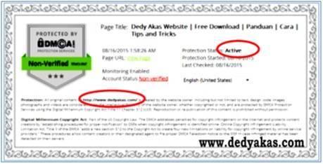 DedyAkas.com Panduan Cara Daftar di DMCA
