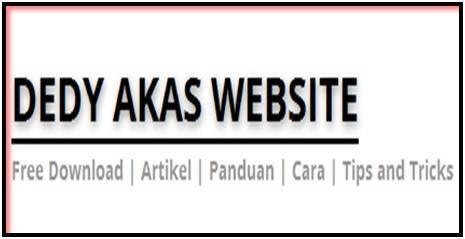 Dedy Akas Website Mendaftar Blog atau Website Gratis