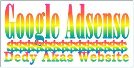 Dedy Akas Website Proposal untuk Google Adsense