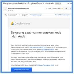 Kabar Terbaru dari Google AdSense - Dedy Akas Website