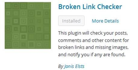 Plugin Broken Link Checker - Dedy Akas Website
