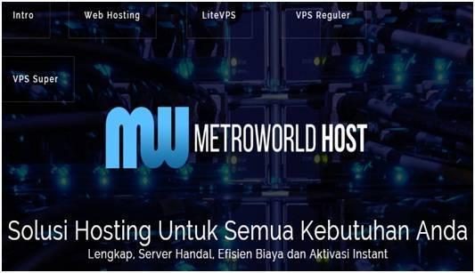 DedyAkas.com Berlangganan Hosting Metroworldhost - Dedy Akas Website
