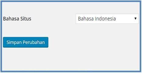 Panduan Belajar WordPress Mengubah Bahasa Situs - Dedy Akas Website