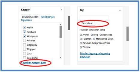 Panduan Belajar WordPress Membuat Kategori dan Tag - Dedy Akas Website