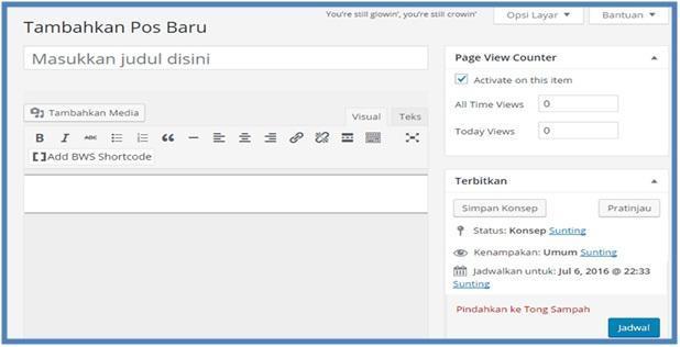 Panduan Publish Artikel Beberapa Hari Ke Depan - Dedy Akas Website