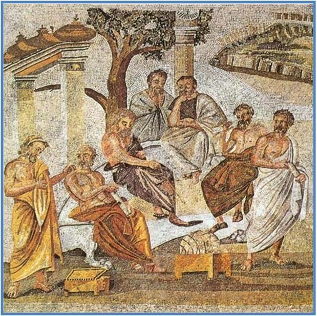 Imge by Plato's_Academy_mosaic_from_Pompeii
