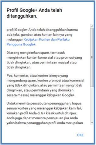 Cara Mengatasi Profil Google Plus Yang Ditangguhkan - Dedy Akas Website