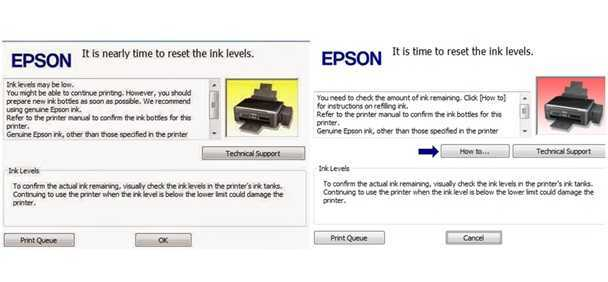 Perhatikan Notif Printer Epson
