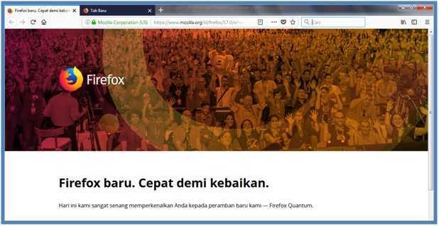 Tampilan Baru Firefox yaitu Firefox Quantum