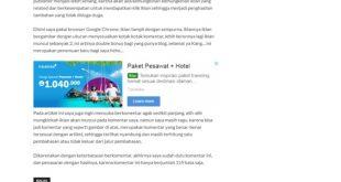 Berkomentar Panjang Bisa Menunculkan Iklan Google Adsense, Penasaran